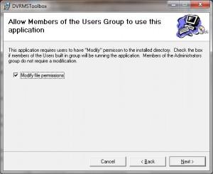 Modify File Permissions - Check the box