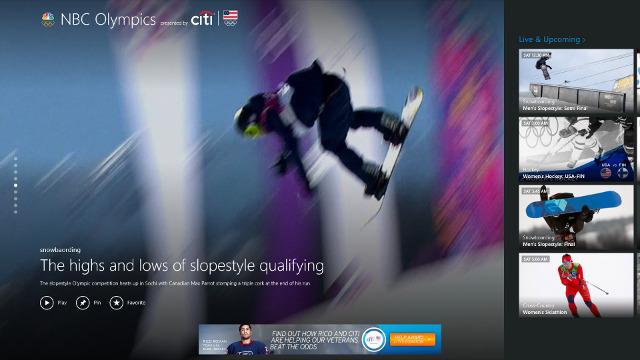 Watch the Olympics on Windows 8 and Windows Phone 8